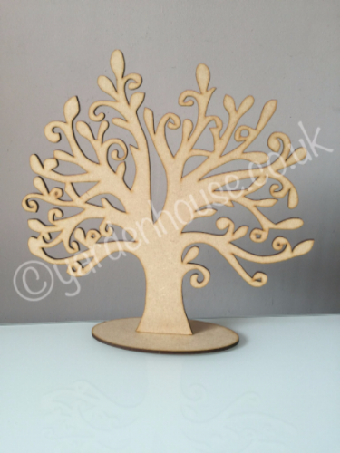 Free standing tree 3, 3mm MDF, 25cm high
